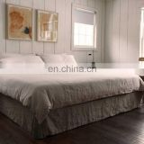 100% pure linen bedding sets in queen size;double size,stone water washing,in white ,gray color.