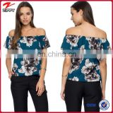 Printed short sleeve fashion clothes, fashion turkish clothes