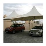 Strong and durable aluminum car parking shade