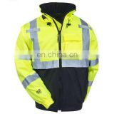 3m Reflective Winter Safety Jacket Two Tone Lime Yellow Reflective Jacket/Workwear Men's Reflective Safety Jackets/2lo