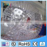2017 Plastic snow land zorb ball inflatable human sized hamster ball for bowling