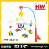 Hot selling plastic musical baby mobile hanging rattle bell