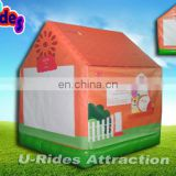 Indoor 2m wide Air tight inflatable farm bouncer for kids without air blower
