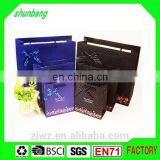 2015 CUSTOM DESIGN PAPER BAG WITH BOW TIE HOT FOIL STAMPING