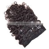 Arrival 100% Best sale TOP quality bundle weft Virgin 8 inch clip-in human hair extensions