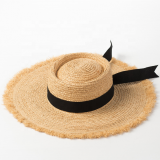 2019 New Style Spring Summer Beach Floppy Raffia Straw Hat For Women