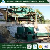 Mud/Sand alluvial/gold mining or gold dredging equipment with wheel on dry land