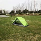 Green Color Wilderness Equipment Backpacker Tents Double Layer 1 Man Tent
