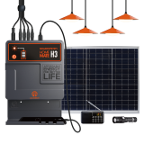 Lighting Global Certificate Solar Home Lighting Kits with 4 Led Lamps Radio Solar Mobile Phone Charger