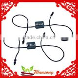 26cm silver embossed black Plastic hang tag string