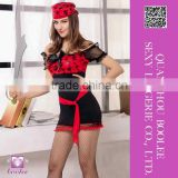 Latest cheap price most popular Sexy Black Red Lady Pirate Costume Hallowen pirate costumes for women