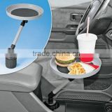 New Round Plastic Kids Car Auto Swivel Mount Holder Food Tray