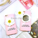 Beautiful Little Daisy Mirror PC Hard Case for iPhone 6/6 plus , Case for Girls