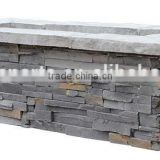 Outdoor Rectangle Fibreglass Rock Stone Finish Large Gas Fire Pit