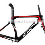Hotest ican T1000 Full Carbon Fiber Chinese Road Bike Frame 2016,Road Bicycle Carbon Frame China,Bike Frame Carbon Road