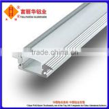 Silver Anodized, Black Anodized, Champagne Anodized Aluminum Extrusion Profile for LED Manufactured With Customized Drawings