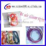 2014 wholesale silicone kids toy/braided fabric