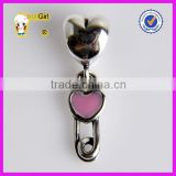 European Style Charm Bracelet Beads Lovely Paperclip Charm Enamel Dangle Beads Wholesale