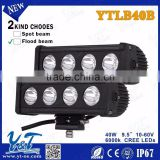 9.5 inch 40W Single Row LED Light Bar , Automotive driving light, off road light ,led work light Square 10*4W