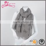 Latest design Pure pastoral exquisite embroidery organic cotton muslim scarf for women