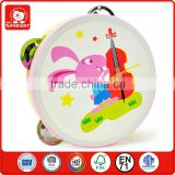 safe EN71 standard kids like rabbit play gutar animal band tambourine miniature musical instruments modern toys for children
