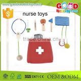 2015 Lovely Design Wooden Doctor Set Best Kids Role Play Toys