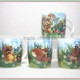 Wholesale animal design new bone china ceramic customized mug