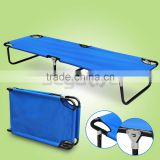 Blue-Folding-Camping-Bed-Outdoor-Portable Military Cot Sleeping Hiking Travel
