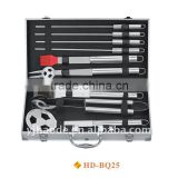 9 pcs BBQ set with aluminium case