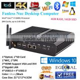 High-end pc intel core i7 5500u 4GB RAM DDR3 16GB SSD openelec pc desktop pc HD I7 5500u business pc                                                                         Quality Choice