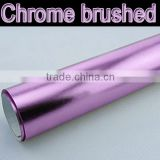 Hot selling Chrome brushed wrapping vinyl sticker for car decoration red color