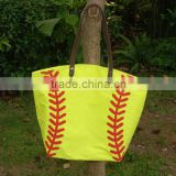 Wholesale Domil Blanks Cotton Canvas Softball Tote Bags Large Capacity Ball Container Holder Bags