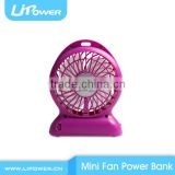 Hot Sale Plastic Hand Mini Fan 2600mAh power bank built-in 18650 battery