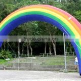 colorfull PVC arch,Rainbow arch, customized logo printing inflatable PVC arach, cheap and high quality arch