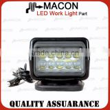 New arrival LED work light,50w remote control car lights search light auto remote searchlight