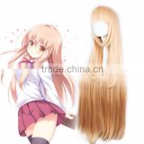 Wholesale Hot Anime Himouto! Umaru-chan Himoto! Wig Light Orange Long Straight Wigs Umaru Doma Cosplay Wig Party Costume Hair