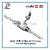Suspension clamp for OPGW ADSS cable