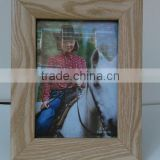 "4x6"" black brown and natural color MDF photo picture frame"