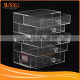 Transparent Acrylic Cosmetics Lipsticks Makeup Organizer & Holder Box with 5 Removable Drawers