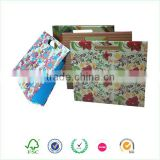 Colorful printing customized paper file folder tote