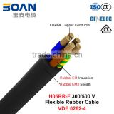H05RR-F, Rubber Cable, 300/500 V, Flexible Cu/Epr/Cr (BS 7919/VDE 0282-4)