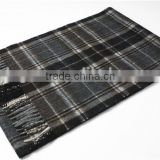2014 New Design Men Yarn Dyed Cashmere Scarf With Fringe
