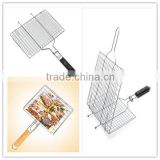 permanent roast fish bbq grill wire mesh, stainless steel bbq grill