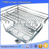 Widely used practical wellmax kitchen cabinet drawer basket, pull out wire basket, stove basket with soft-closing slide                                                                         Quality Choice