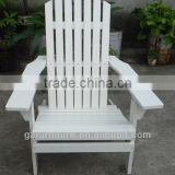 Wood adirondack outdoor furniture wooden white chair yard lawn deck new
