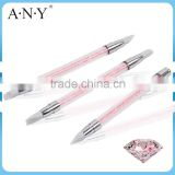 ANY Nail Art Design Beauty Clay Sculpture Rhinstone Nail Art Acrylic Brush 3D Silicone Pen                                                                         Quality Choice