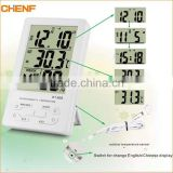 household Large electronic display thermometer hygrometern KT905 digital thermo-humidity meter with clock calendar alarm