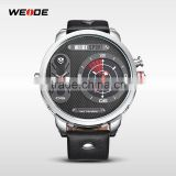 Luxury WEIDE Brand Oversized Casual Sports Watch Leather Strap Quartz Analog Watches Men Dress Wristwatches 2014