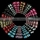 180Pcs 3D Toe Pre-Design False Nail Tip 15 Style HN197