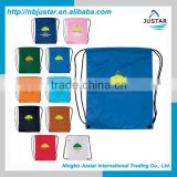 210D Polyester Material and Rope Handle Style Custom Logo Waterproof Nylon Drawstring Bag